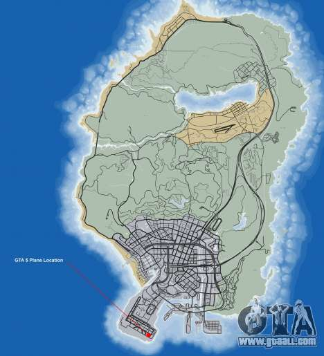 Where to find plane Shamal in GTA 5