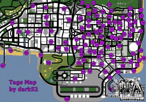 Карта граффити