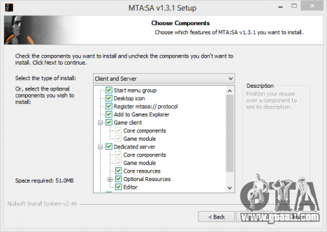 Instructions for installing and configuring the MTA San Andreas 1 3 1
