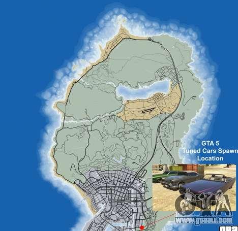 Где найти тюнингованые машины в GTA 5