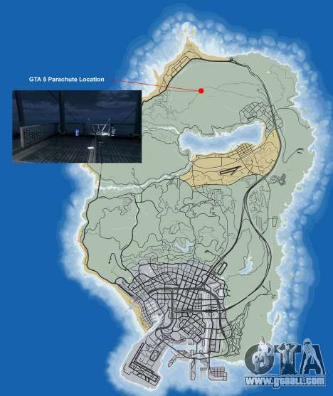 Where to find parachute in GTA 5