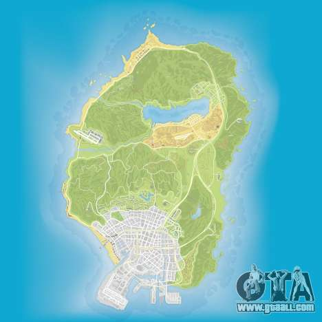 Atlas map of Grand Theft Auto 5