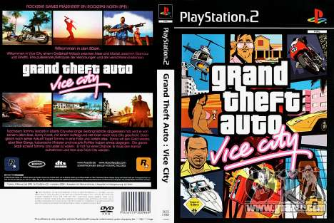 Cover of GTA Vice City for Play Station 2 EU