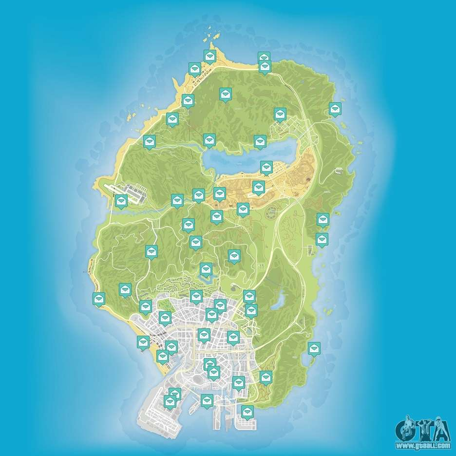 Map Of Letter Scraps In GTA 5