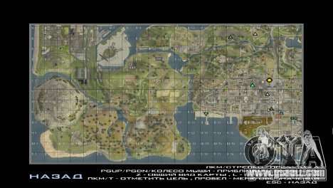 GTA SAMP mods: map with sectors