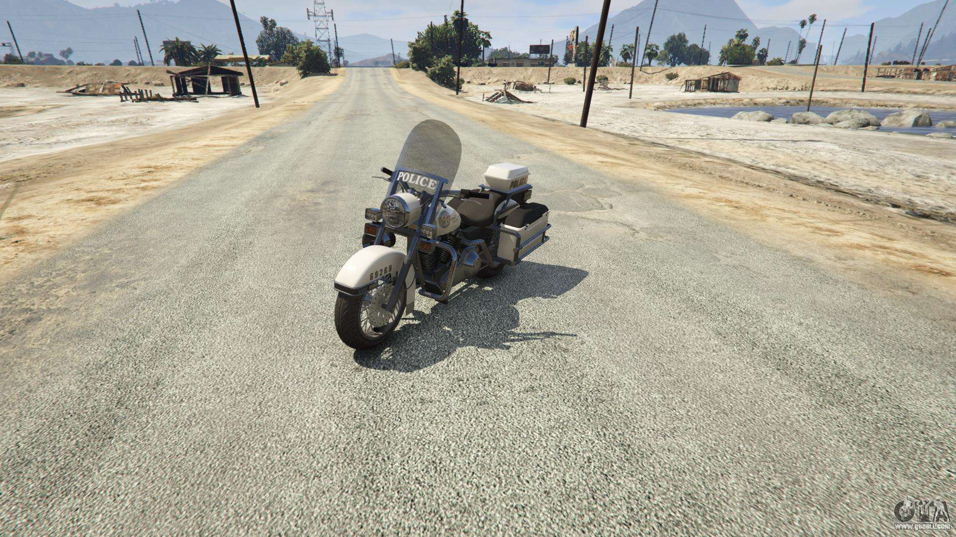 Police Bike GTA 5 - front view