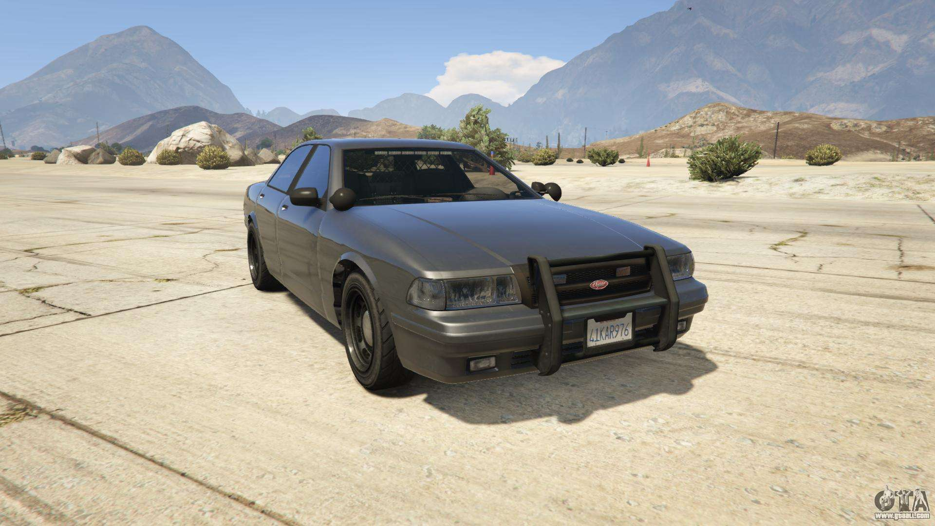 GTA 5 Vapid Unmarked Cruiser - front view