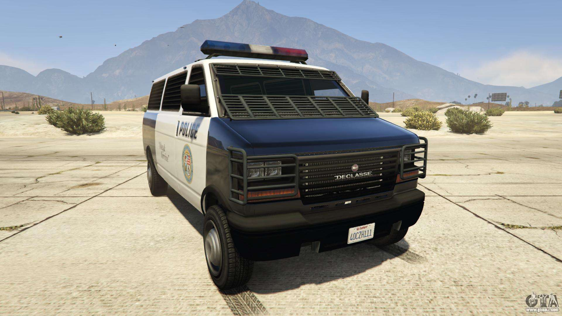 GTA 5 Declasse Police Transporter - front view