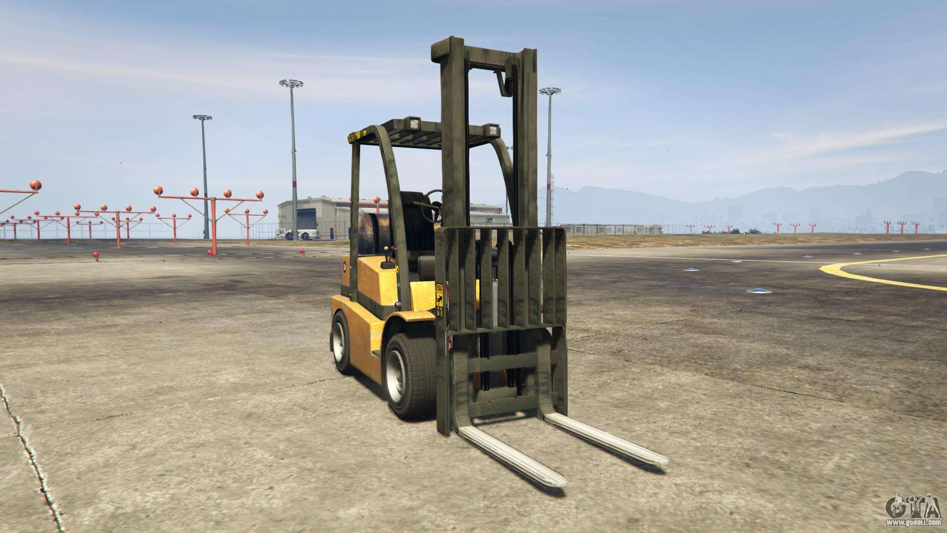 GTA 5 HVY Forklift - front view