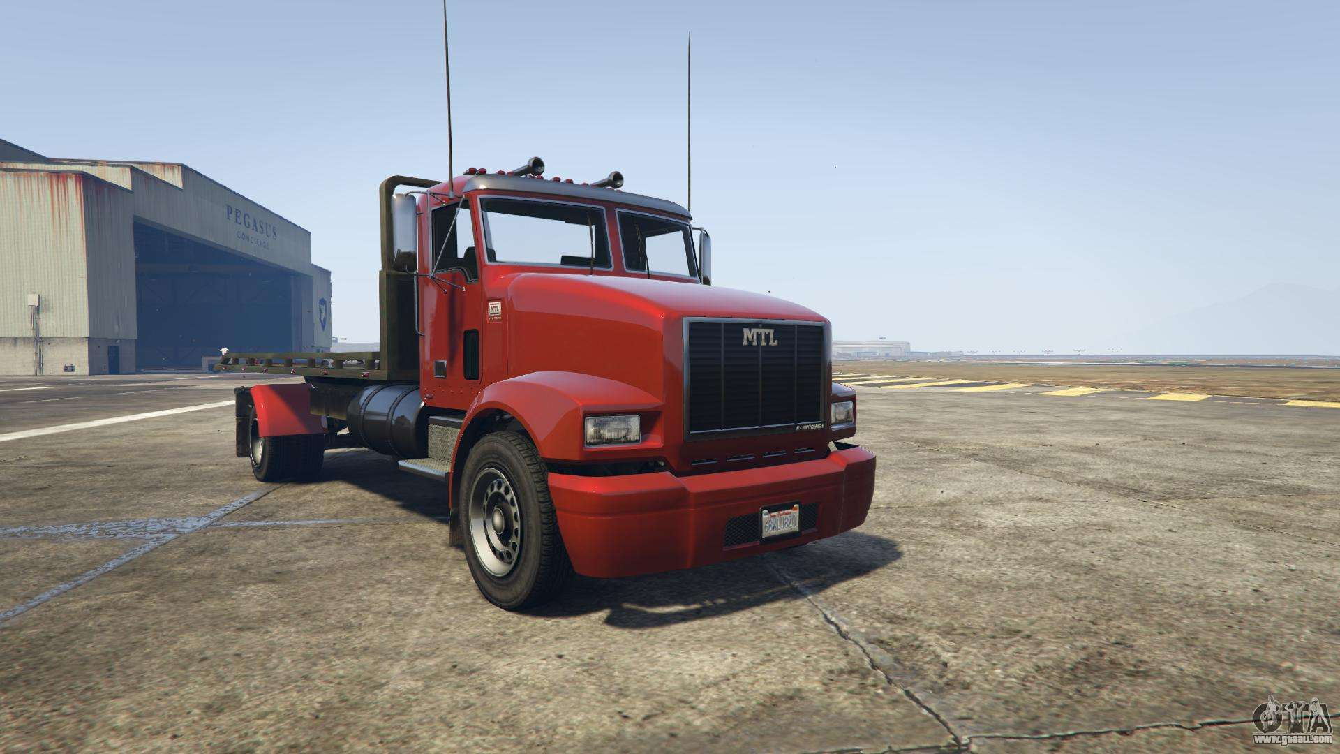 GTA 5 MTL Flatbed - front view