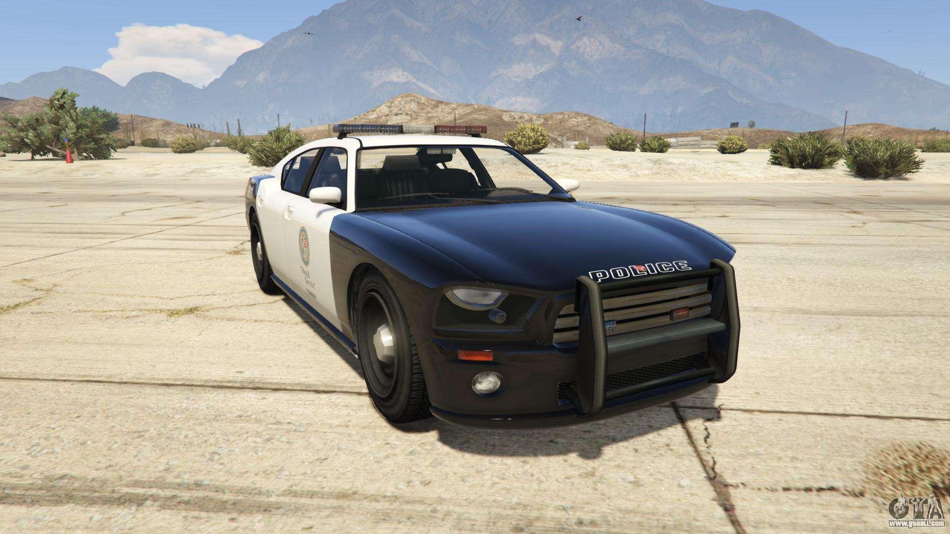 GTA 5 Bravado Buffalo Police - front view