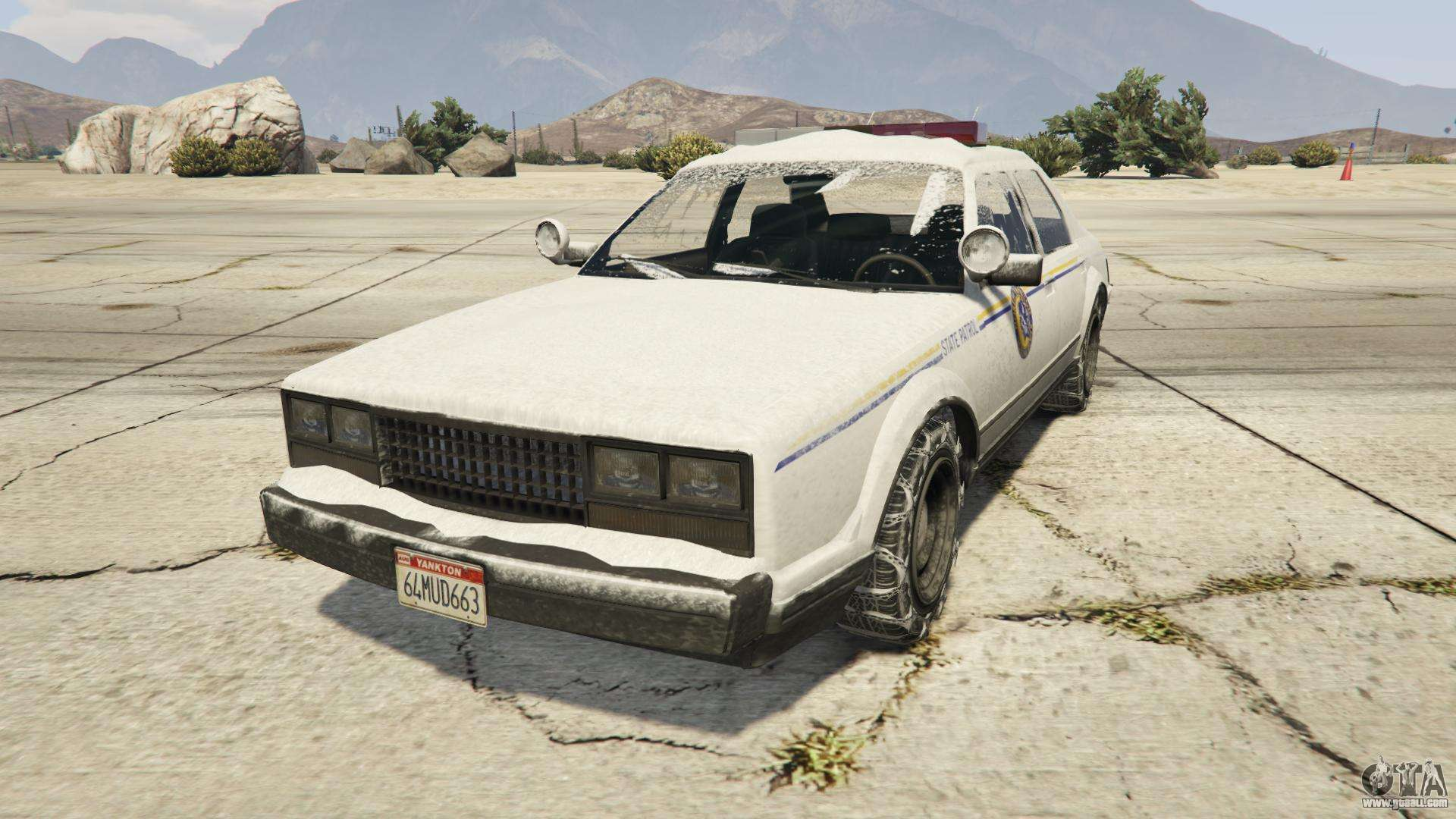 GTA 5 Albany Police Roadcrusier - front view
