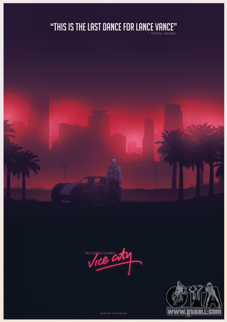 GTA Vice City Fan poster