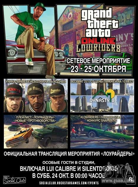 Lowriders GTA Online Event Weekend