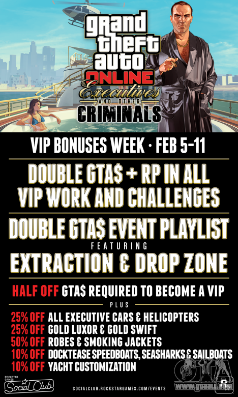 Discounts and bonuses in GTA Online