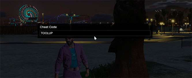 How to enter cheat codes through the game console in GTA 5