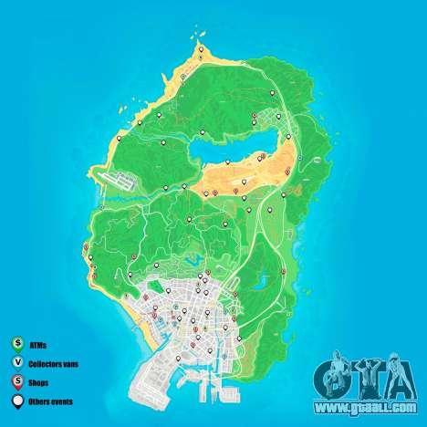 Random events map Grand Theft Auto 5