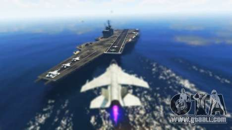 The carrier spawning in GTA Online