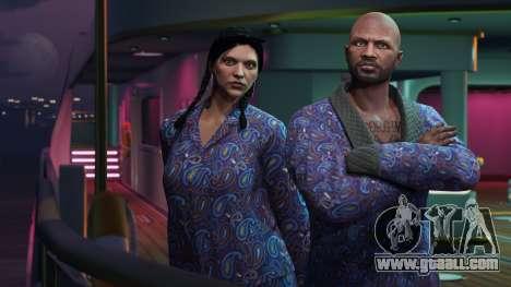 GTA Online: Blue jacket and pajamas