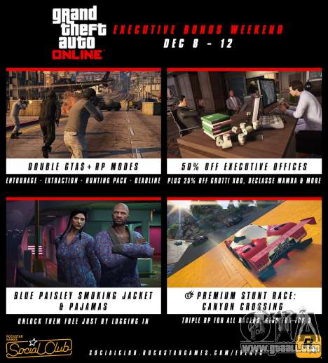 Bonus on weekend in GTA Online