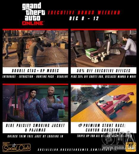 Bonus on weekend in GTA Online