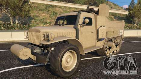Bravado Half-track from the GTA 5 front view