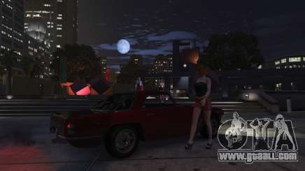 A prostitute in GTA 5