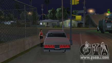 To pick up a girl in GTA SA