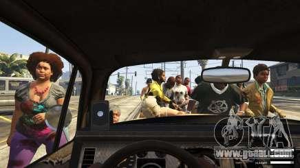 Zombie attack in GTA 5
