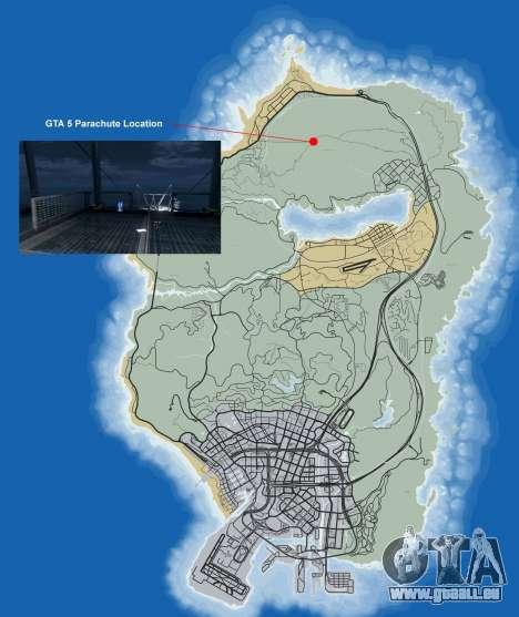 Où trouver le parachute dans GTA 5