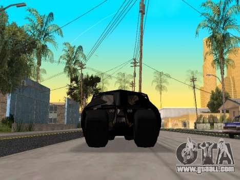 Tumbler Batmobile 2.0 for GTA San Andreas inner view