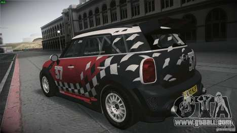 Mini Countryman WRC for GTA San Andreas back left view