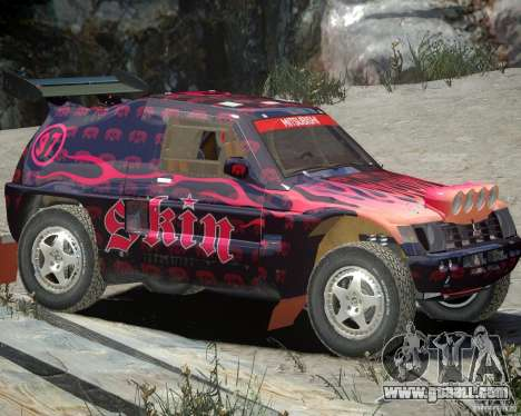 Mitsubishi Pajero Proto Dakar EK86 Vinyl 4 for GTA 4 left view