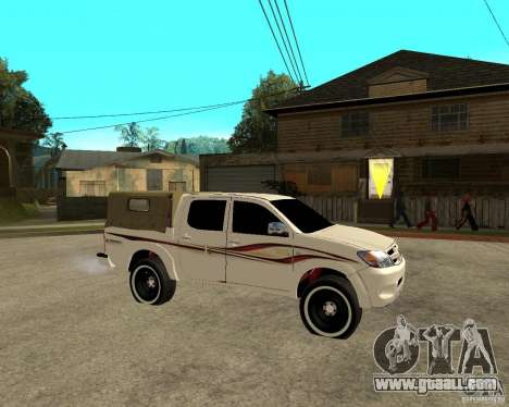 Toyota Hilux 2010 for GTA San Andreas right view