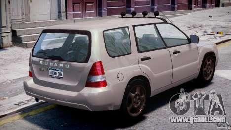 Subaru Forester v2.0 for GTA 4 upper view