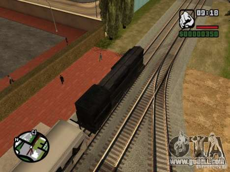 Combine train from the game half-life 2 for GTA San Andreas inner view