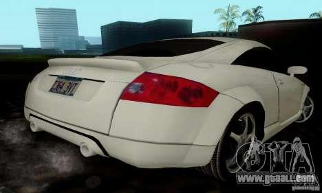 Audi TT for GTA San Andreas back view