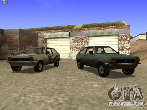 Ford Fiesta 1981 for GTA San Andreas back view