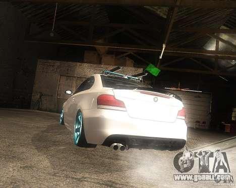 BMW 135i Hella Drift for GTA San Andreas left view