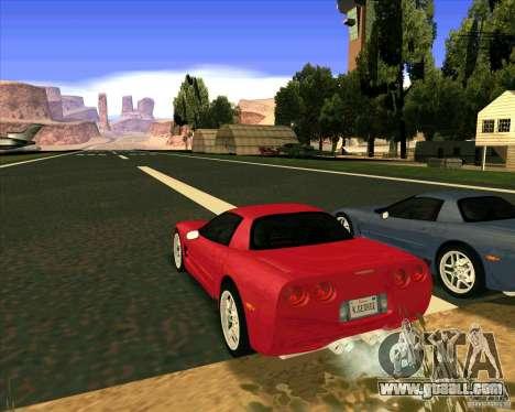 Chevrolet Corvette C5 z06 for GTA San Andreas left view
