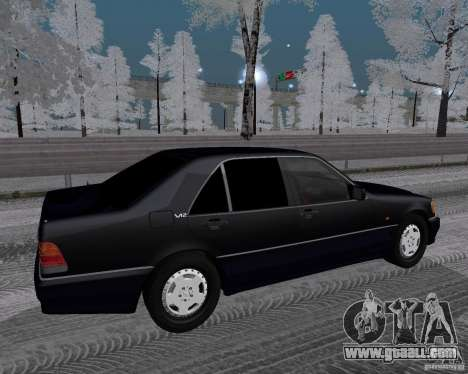 Mercedes-Benz W124 for GTA San Andreas right view