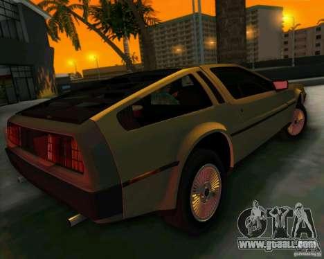 DeLorean DMC-12 V8 for GTA Vice City inner view