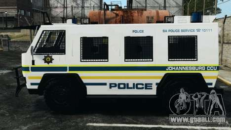 RG-12 Nyala - South African Police Service for GTA 4 left view