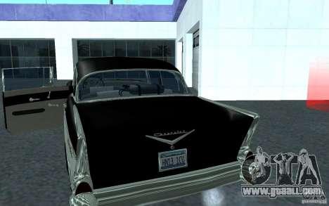 Chevrolet BelAir 4 Door Sedan 1957 for GTA San Andreas back left view