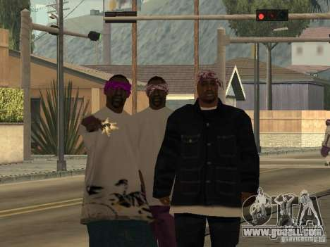 New skins Ballas for GTA San Andreas second screenshot