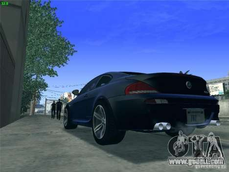 BMW M6 2010 Coupe for GTA San Andreas back left view
