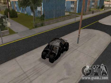 Tumbler Batmobile 2.0 for GTA San Andreas
