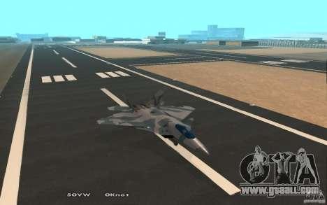 F/A-22 Velociraptor for GTA San Andreas back view
