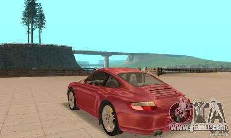 Porsche 911 (997) Carrera S v1.1 for GTA San Andreas back left view