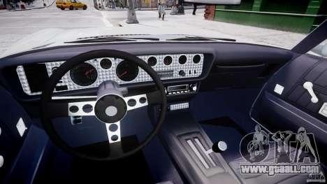 Pontiac Firebird Esprit 1971 for GTA 4 back view